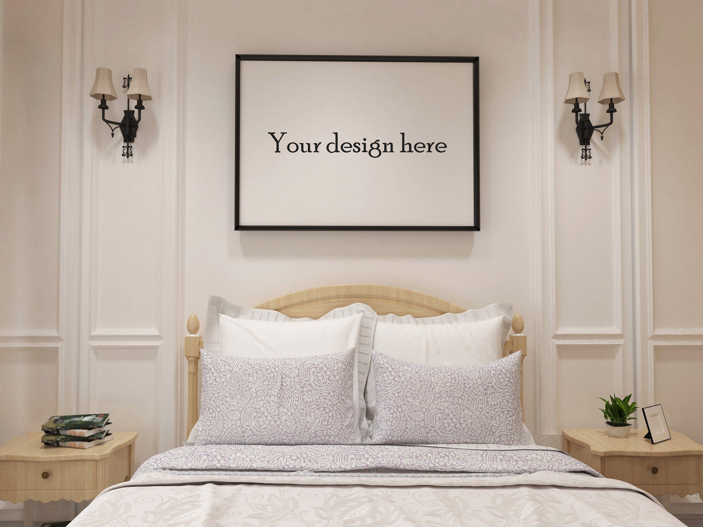 Frame mockup frame mockup simple mockup bed room mockup frame