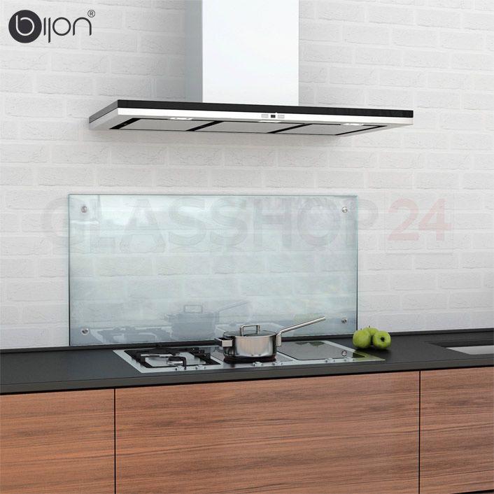 Bildergebnis für glasrückwand küche klarglas Espaços / Decorações