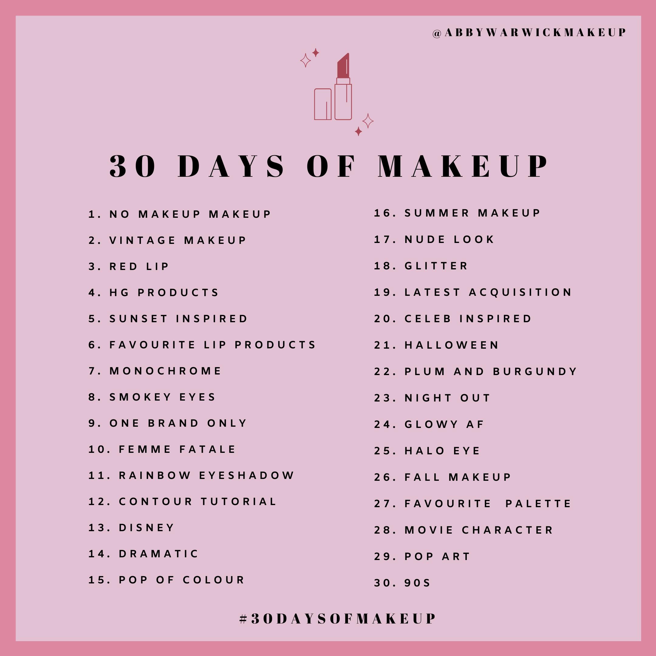 Abby Warwick Makeup Challenge In 2020 Makeup Challenges Beauty Blog Post Ideas Day Makeup Looks