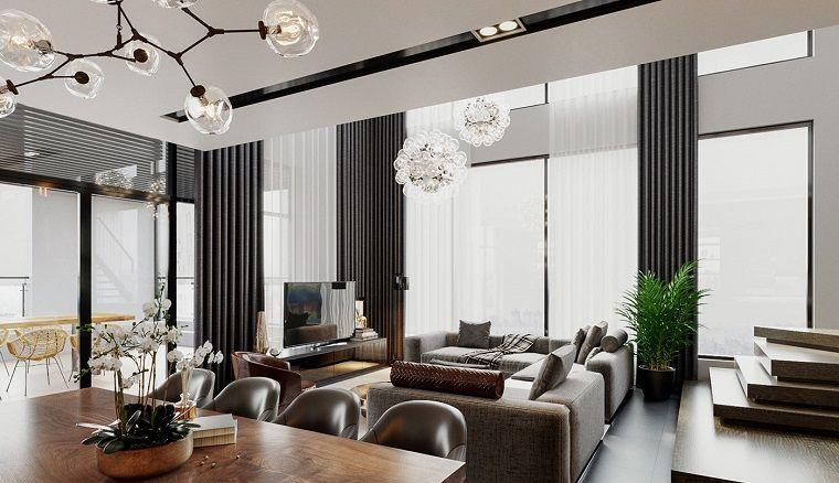 1001 Idee Per Arredare Salotto E Sala Da Pranzo Insieme Con