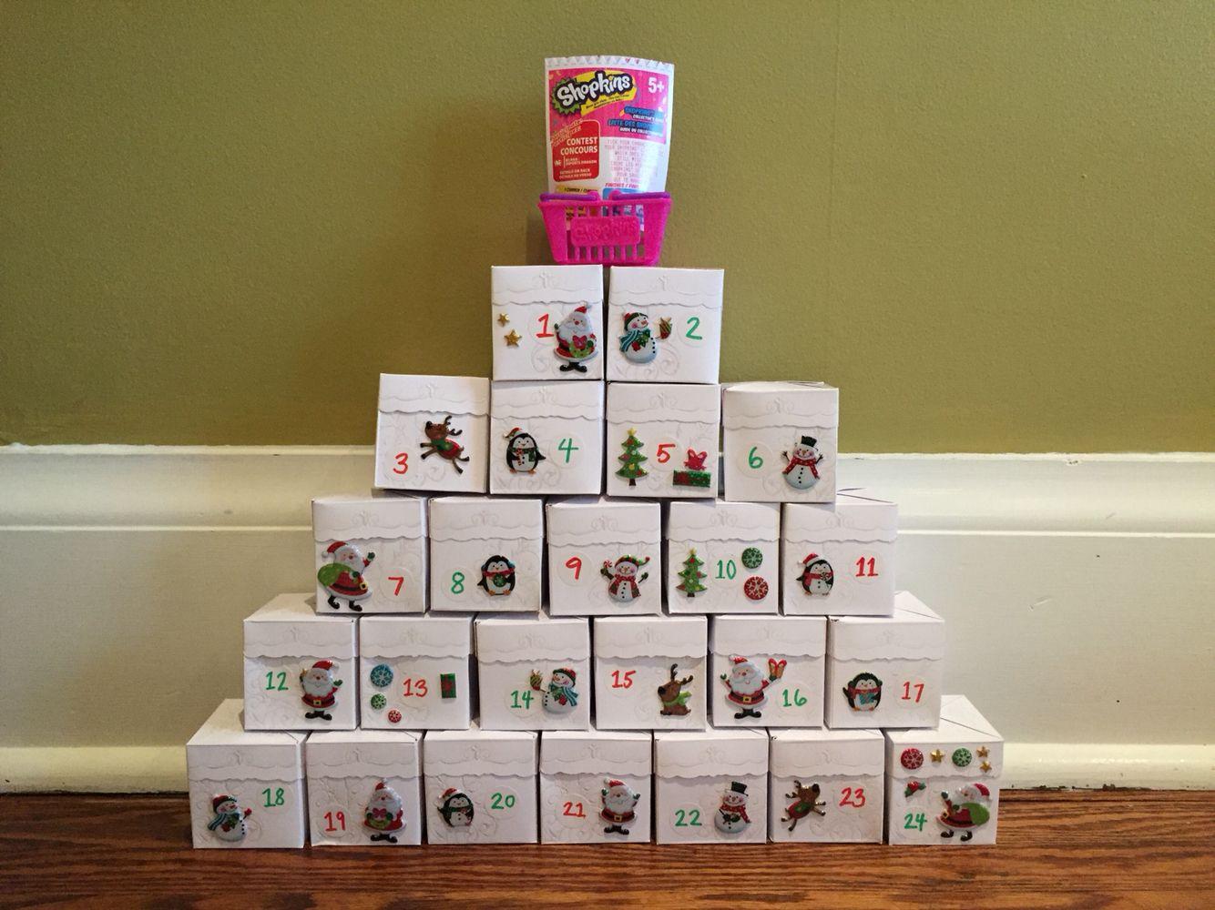 DIY Shopkins Advent Calendar 20 pack of Shopkins (plus