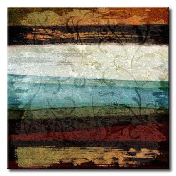 23 ke sq 102b paint stroke ii cuadro abstracto franjas - Cuadros con texturas abstractos ...