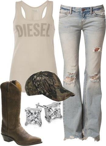 I especially love the jeans and the hat, but I'd wear it all X)