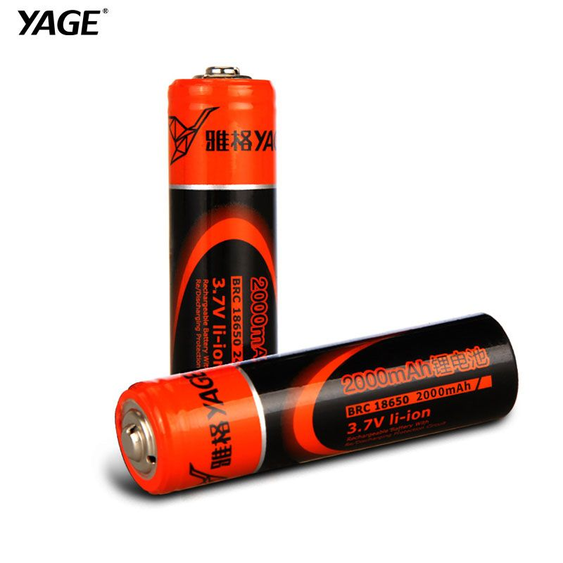 Only 8 49 Yage Original 18650 Lithium Rechargeable Battery 3 7v 1500mah 2400mah Li Ion Batteries Bateria Litio Fo Light Accessories Flashlight Battery Lights