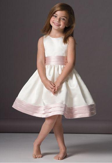 762e31f85 Vestido de fiesta para ni a en saten duquesa bicolor.