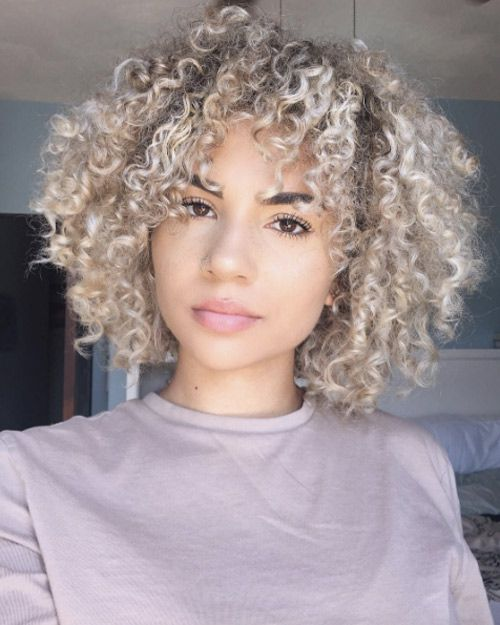 Ash Blonde Curls By Mikayla Ewing Curly Hair Styles Curly Hair Styles Naturally Hair Styles