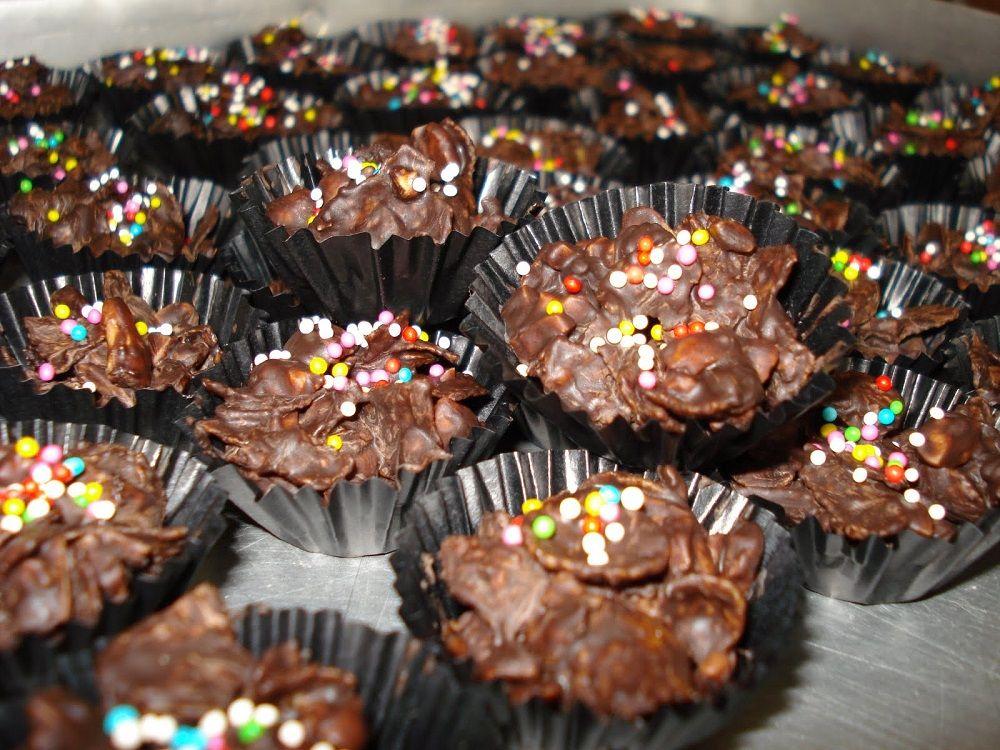 Biskut Cornflakes Coklat Resepi Mudah Dan Ringkas Resep Kue Kering Kue Kue Coklat