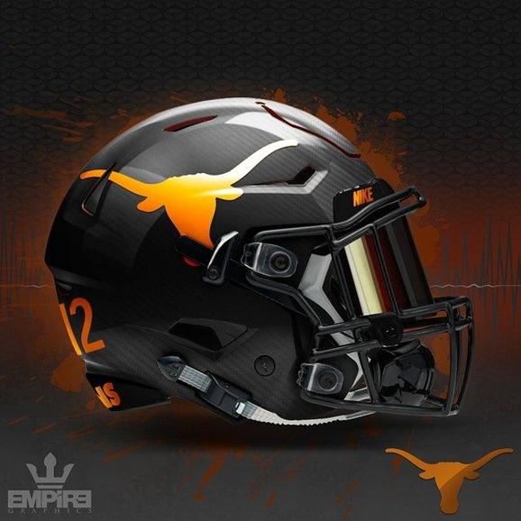 Texas Longhorn Uniform Concept Designs Football Helmets College Football Helmets Football Helmet Design
