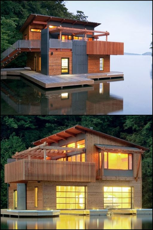 A 600 Sq Ft Modern Boathouse Featuring The Wide Vista Of Muskoka