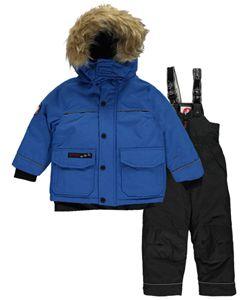 Canada Weather Gear Little Boys Toddler Snow Peak 2 Piece Snowsuit Sizes 2t 4t Cookieskids Com Snow Suit School Uniform Accessories Kids Outfits