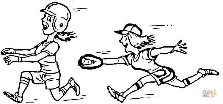 Softball Players Super Coloring Super Coloring Pages Coloring Pages To Print Coloring Pages