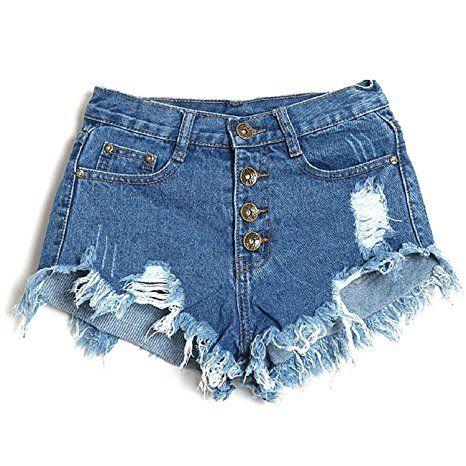 Minetom Mujer Verano Pantalones Cortos Vintage Denim Cortocircuitos Calientes Moda Cintura Alta Shorts Azul Oscuro Pantalones Cortos Moda Pantalon Corto Mujer