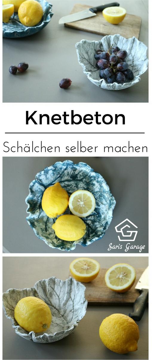 ᐅ Knetbeton Schalen & Teller ᐅ Diy - Anleitung - Tipps 2017 ... Gartendeko Aus Beton Diy Ideen Anleitung