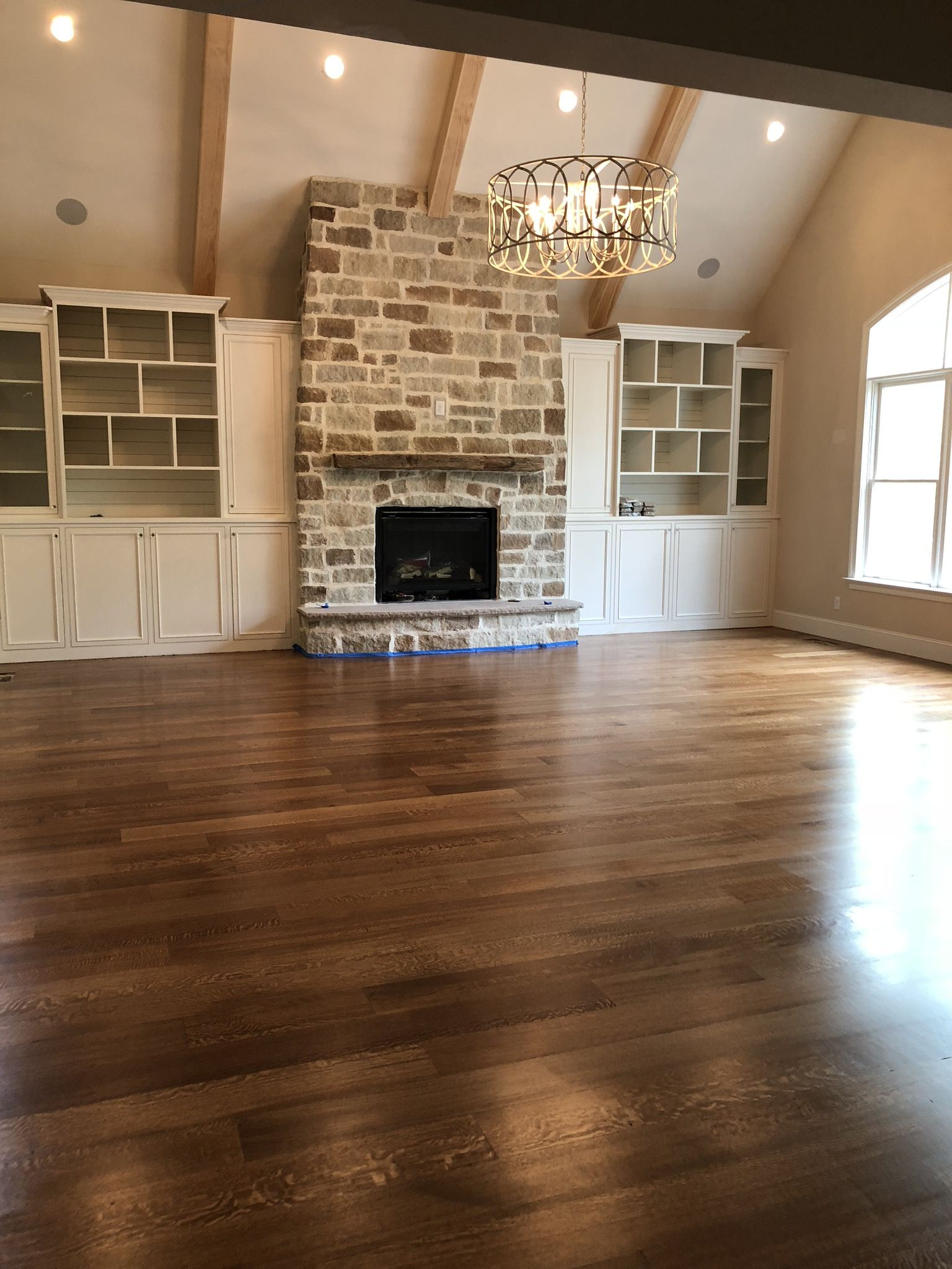 Wood Floor Is Quarter Sawn Character Grade 7 White Oak Stained With A 50 50 Mix Wood Floors Wide Plank White Oak Hardwood Floors Wide Plank White Oak Floors