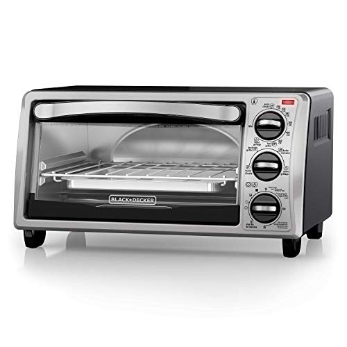 Black And Decker To1313sbd 4 Slice Toaster Oven Black Convection Toaster Oven Toaster Oven Reviews Toaster