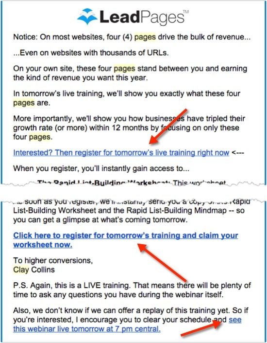 How To Write A Promotional Email Writing Live Training Promotion
