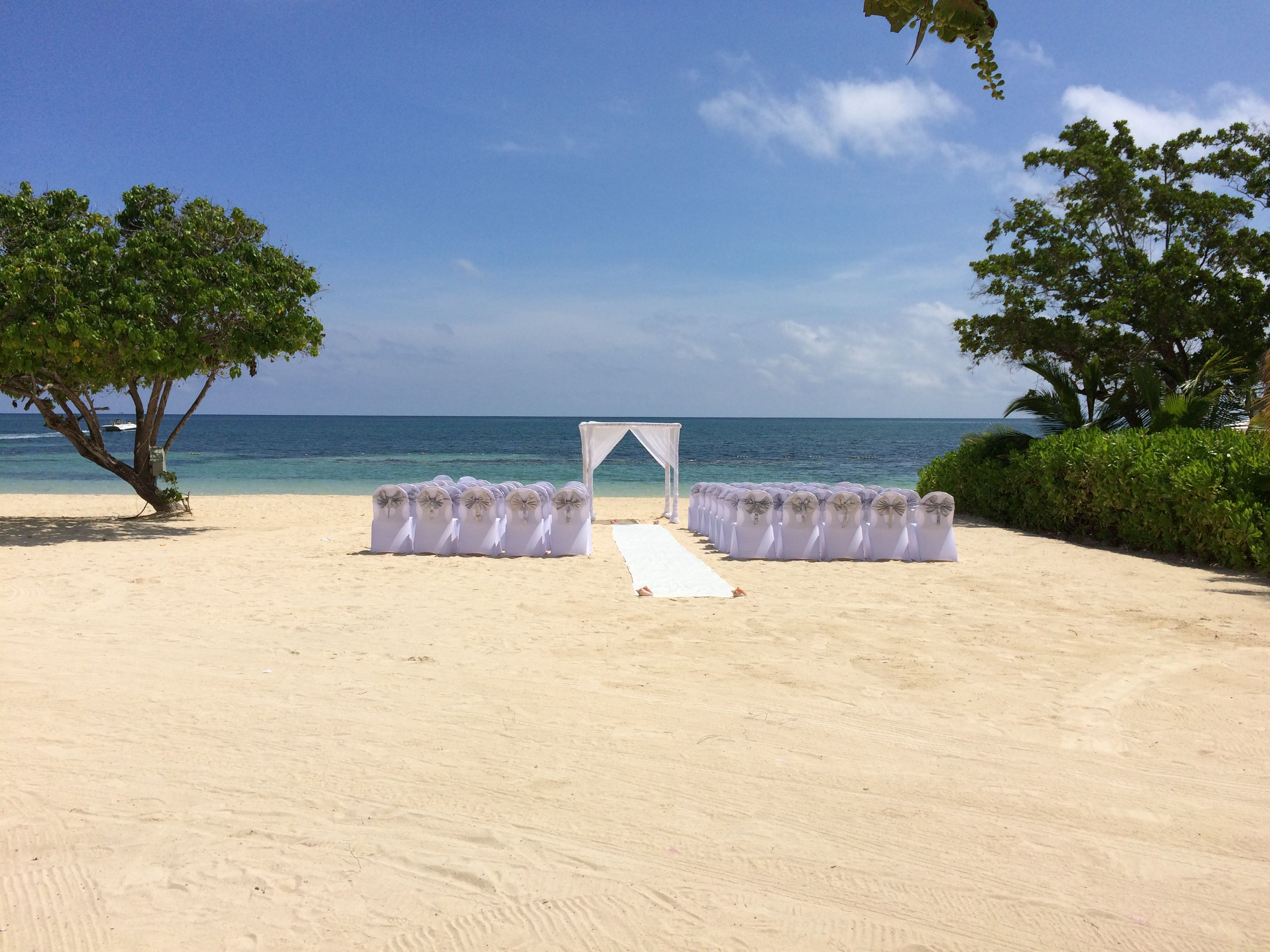 Beach wedding ceremony setup at Iberostar Rosehall Suites- a great ...