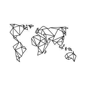 Httpsgooglesearchqorigami crane tattooidee imagen de world map and art gumiabroncs Choice Image