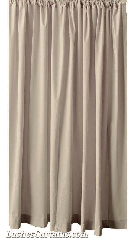 Custom Beige 108 Inch High Single Velvet Curtain Panel Cinema