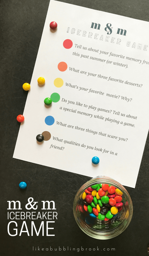 M M Game Printable Get To Know You Games Icebreaker