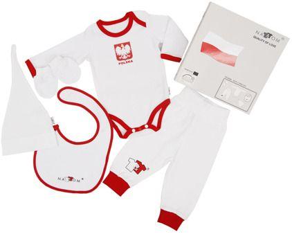 Pakiet 4 szt., 56 cm - 74 cm - komplet  dla niemowląt Nat&Tom, Duma Polski…