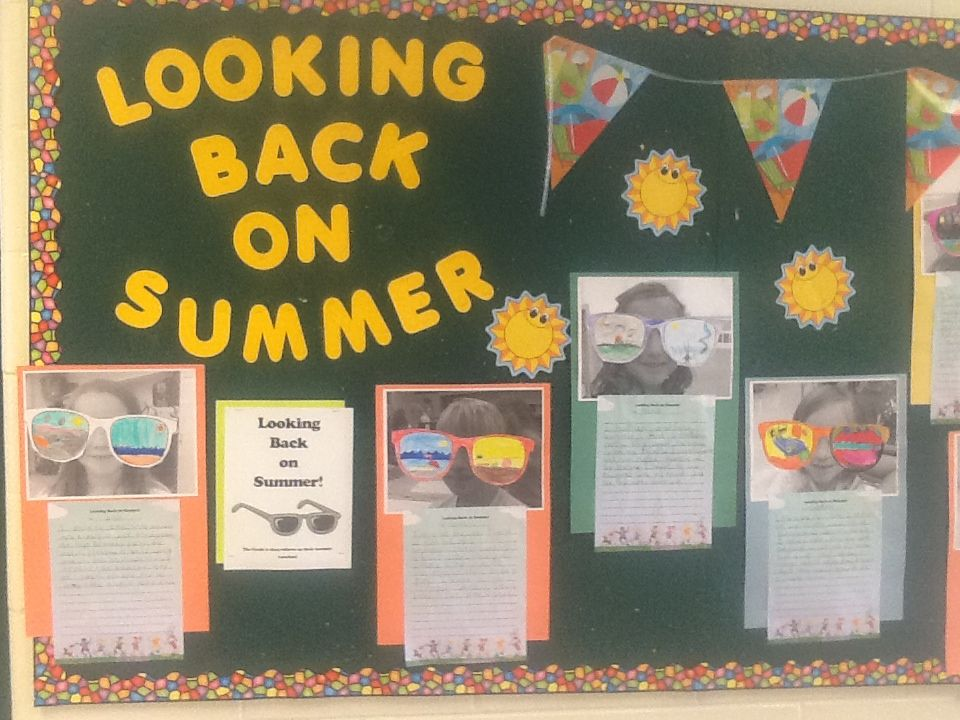 First few days...looking back on summer writing activity. Grade 2.