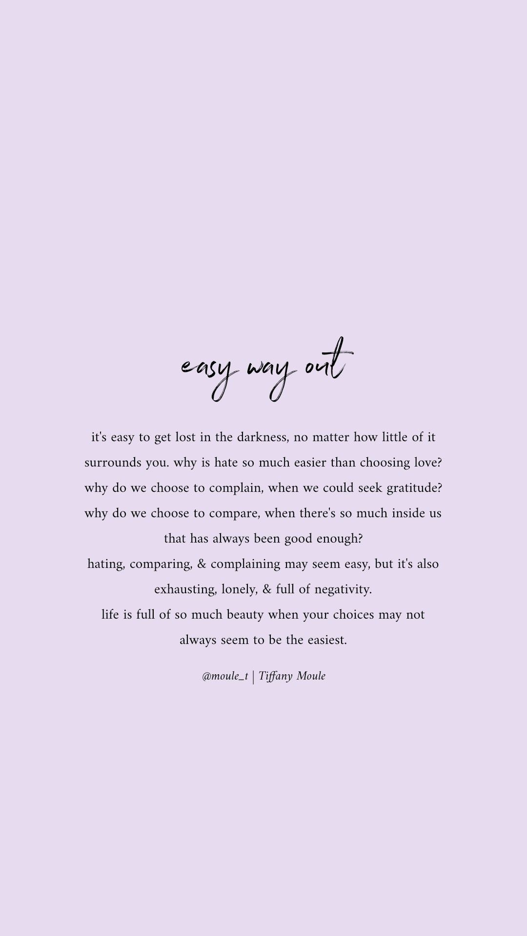 Never chose the easy way out #quote #quotesaboutlife