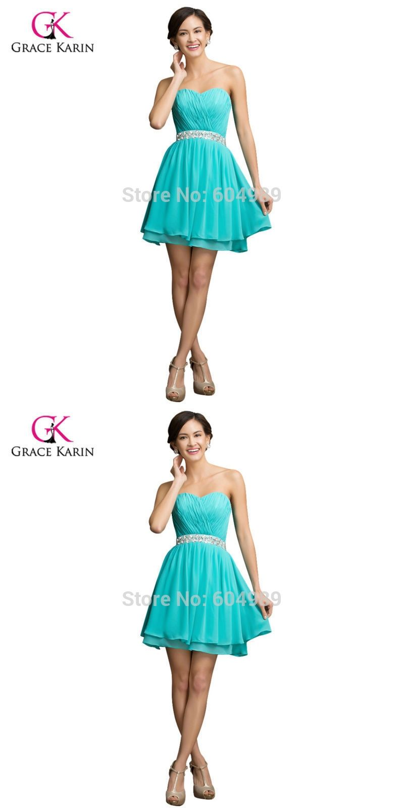 Grace karin plus size short prom dresses turquoise mini dinner