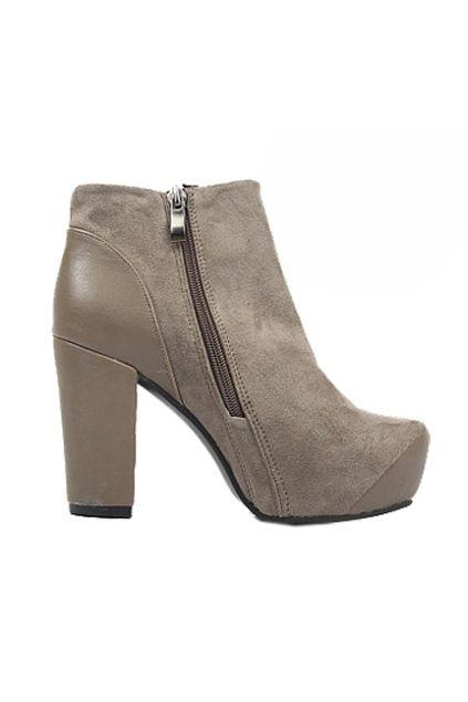 Grey Chunky Heels Platform Ankle Boots  $101.99  #romwe