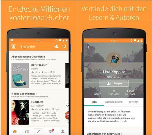 App der Woche für Android: Kostenlose Bücher - Wattpad