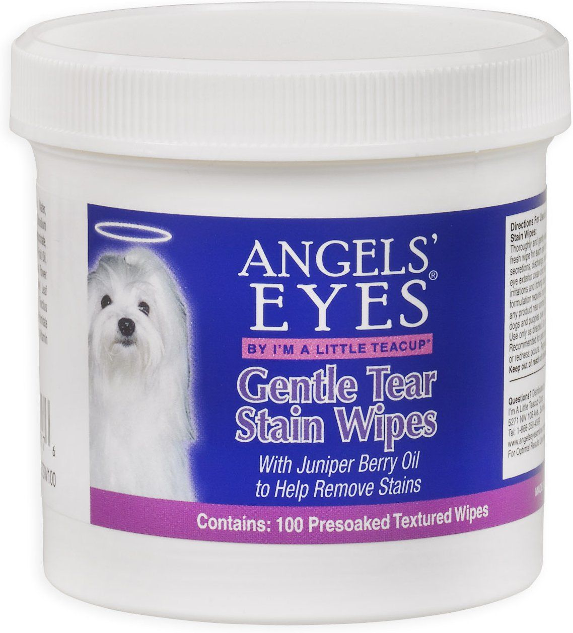 Angels Eyes Gentle Tear Stain Wipes For Dogs 100 Count Chewy Com Tear Stains Eye Care Natural Chicken