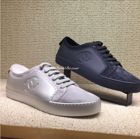 buy cheap 9911c 88385 chanel sneaker   Chanel Sneakers From Pre-Fall 2017 Collection – Spotted .