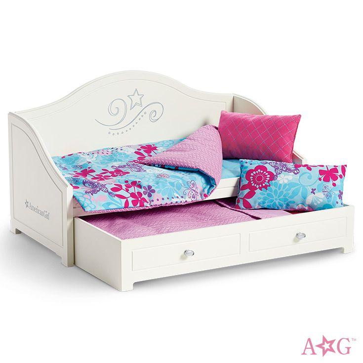 Trundle Bed & Bedding Set   Cosas para muñecas, American girl y Hamacas