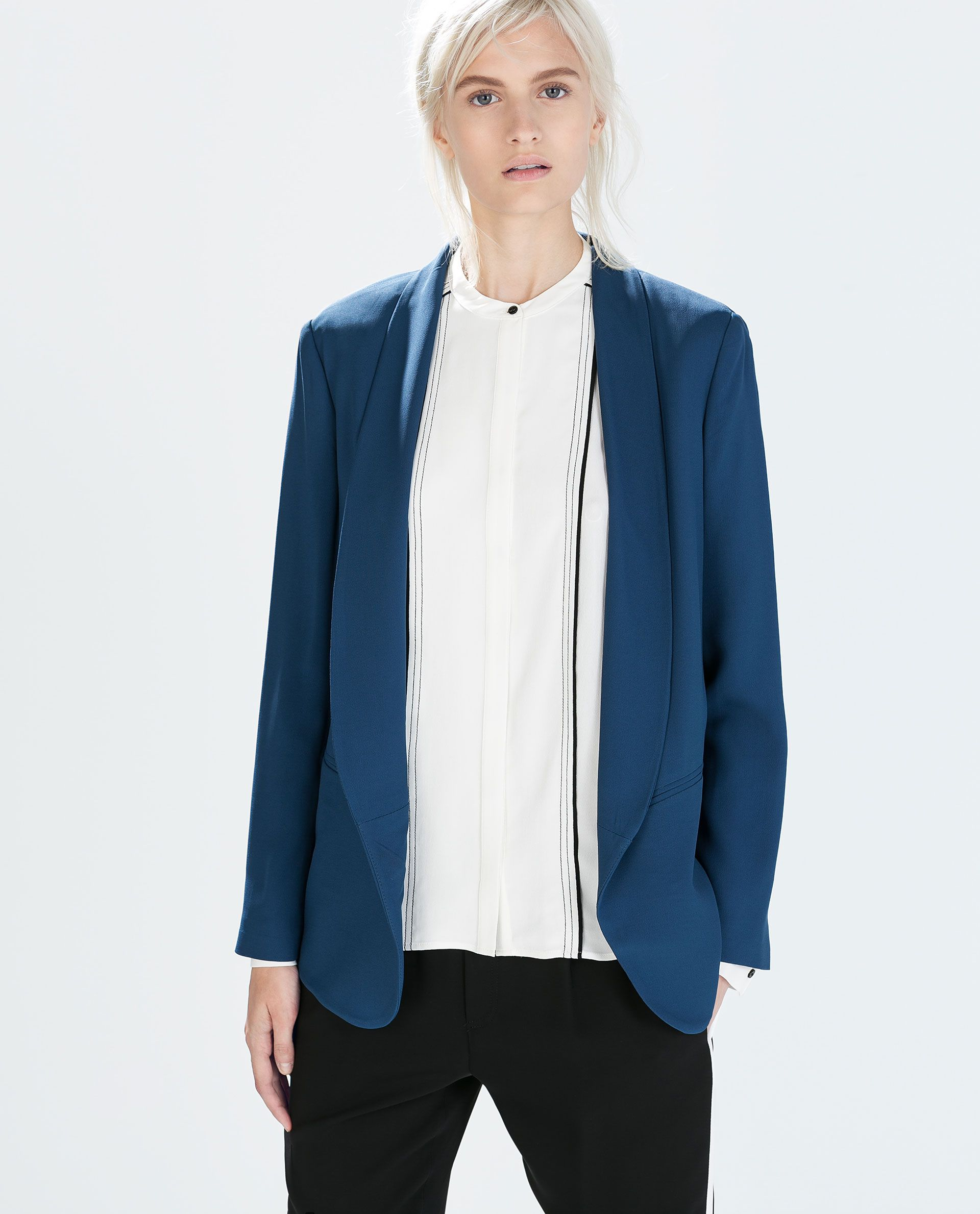 Image From With Tuxedo Of Zara Collar Soft Blazer 2 qUMSpLGzV
