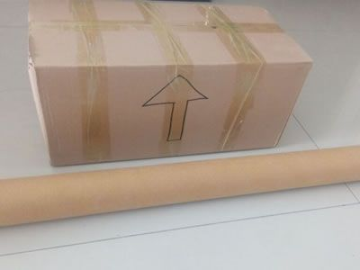 A Packaged Carton And A Chain Curtain Roll With Water Proof Paper