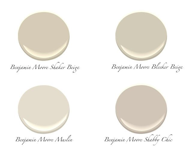 Benjamin Moore Shaker Beige And Muslin Best Neutral