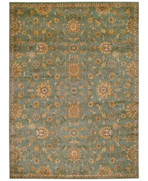 """kathy ireland Home Ancient Times Ancient Treasures Teal 7'9"""" x 10'10"""" Area Rug"""