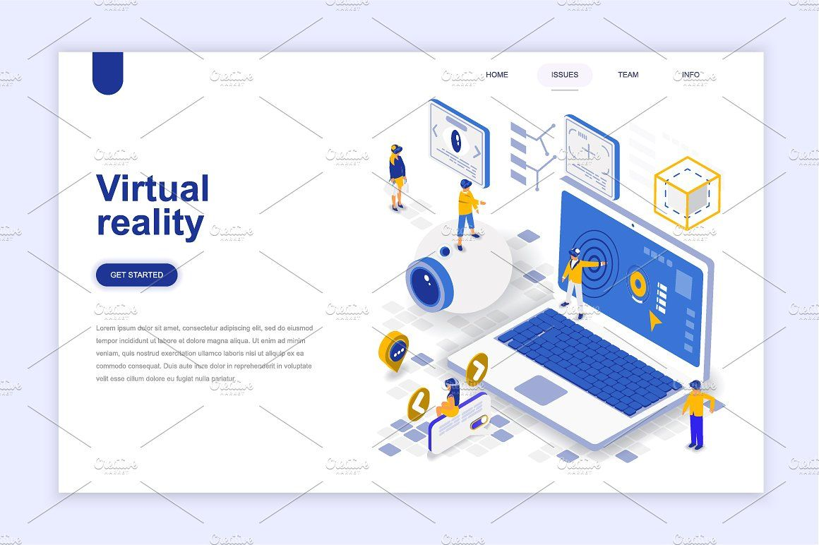 Landing Page Templates Ai Includes Vector Zip