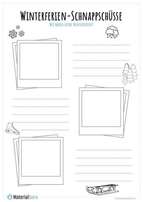 Winterferien Unterrichtsmaterial - MaterialGuru