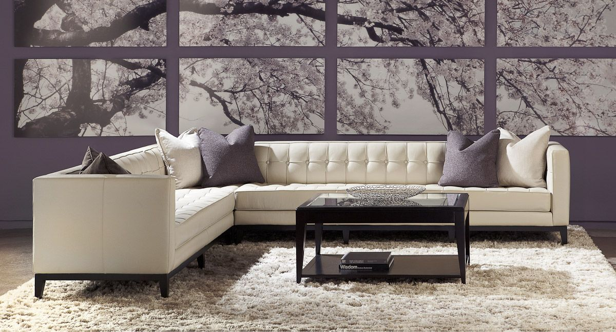 American Leather Lawrence Sectional Modern Leather Furniture