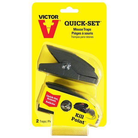 Victor 2 Pack Quick Set Mouse Trap Mouse Traps Traps Rat Traps