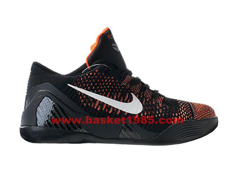 Nike Kobe 9 Elite Low Chaussures De Basket Pas Cher Pour Homme Noir Orange  639045-