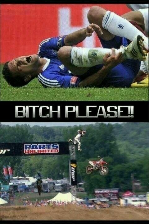 Man Up Please Sports Fail Ouch Booboo Motocross Moto Soccer