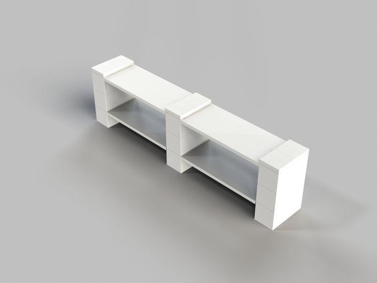 "2 Layer - Double Shelf 72"" W - Short Version"