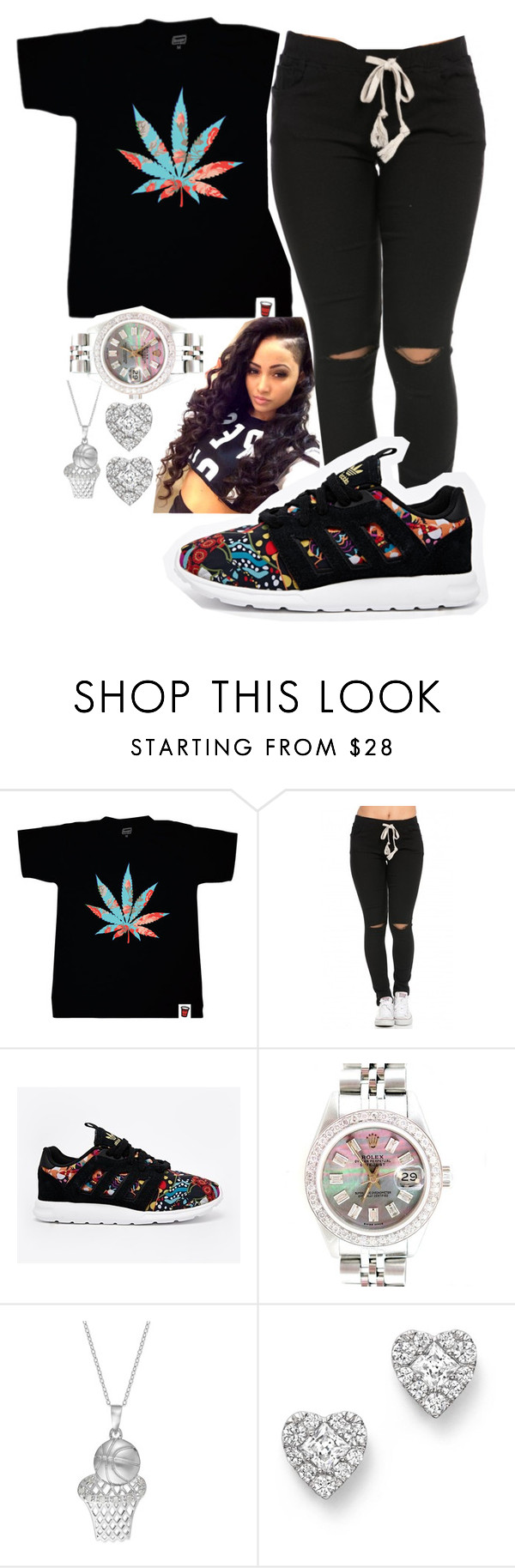 """Don't Tell Nobody- Jeremih"" by femalekinggmimi ❤ liked on Polyvore featuring adidas, Rolex and Bloomingdale's"