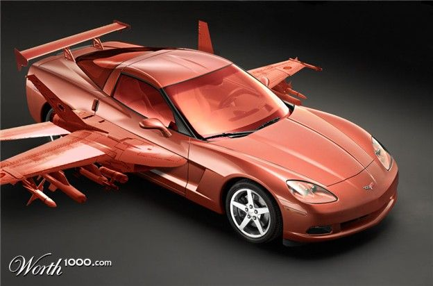 my dream car to be able to fly with a corvette dream cars