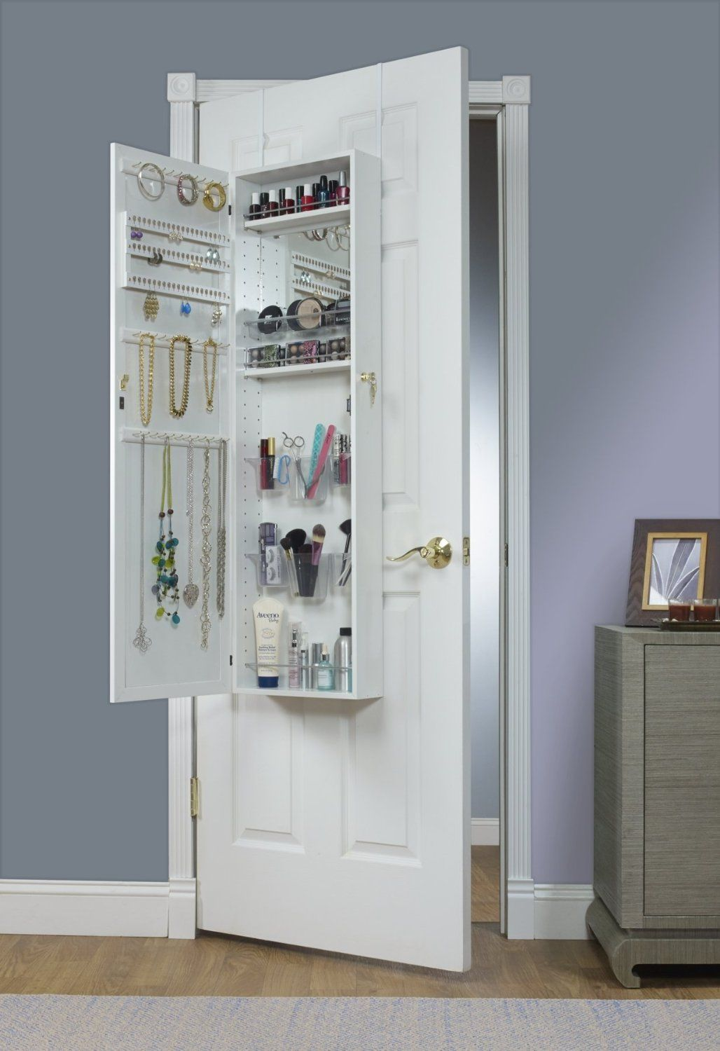 Bon Mirrotek Over The Door Combination Makeup And Jewelry Armoire, $134.99,  Amazon