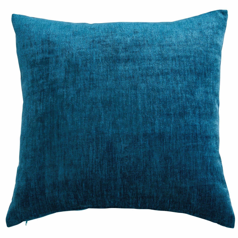 Coussin En Tissu Bleu Canard 45x54cm Bleu Canard Coussin Bleu Canard Et Velours Bleu