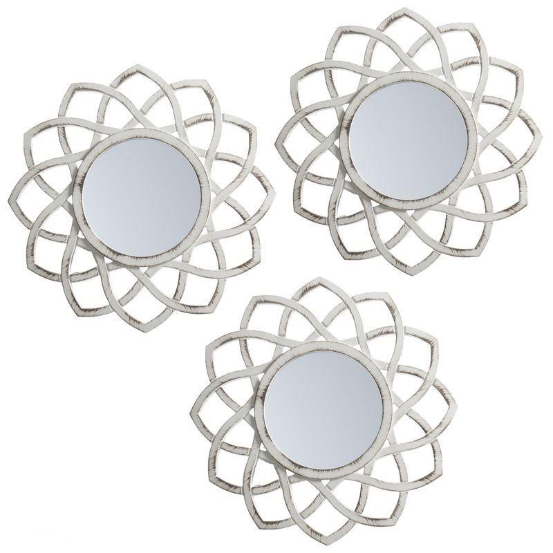 espejos vintage redondos con forma de flor