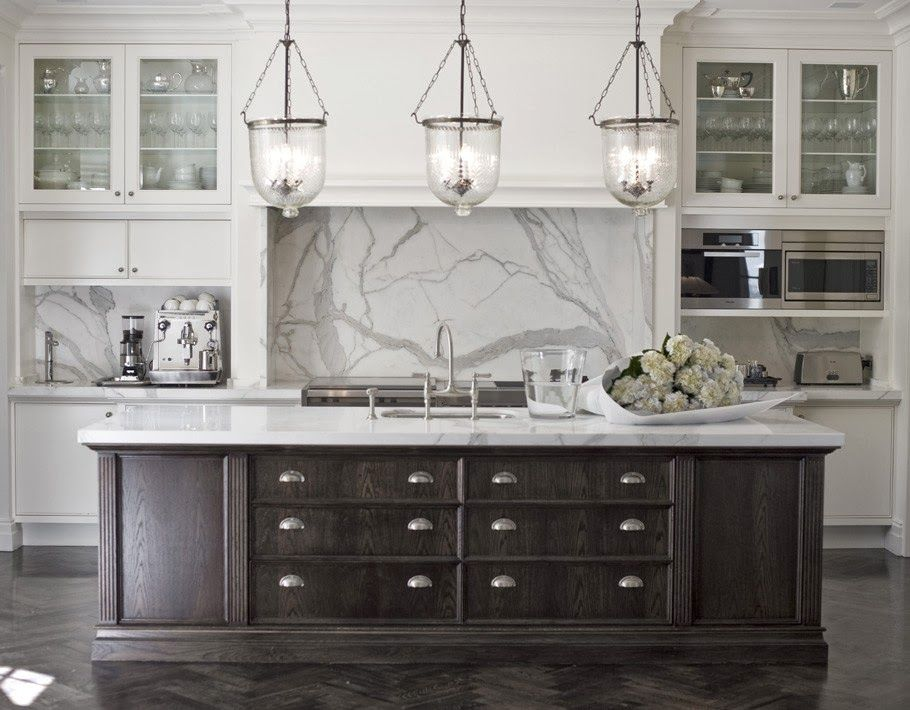Gorgeous island with marble top... | Kitchen Confidential ...